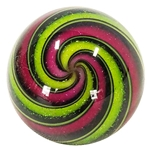 "Hot House Glass - ""Sparkly Raspberry and Lime Swirl"""