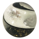 "Michael Mangiafico ""Fig Studios"" - ""Black and White Ribbon Spiral Marble"""