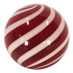 "Hot House Glass - ""Candy Cane Swirl"""