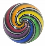 "Hot House Glass - ""Rainbow Banded Swirl"""