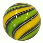 "Hot House Glass - ""Sparkly Lemon and Lime Swirl"""