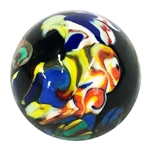 "*Bruce Breslow - ""End of Day Twisty Cane Marble"""