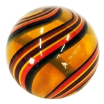 "Hot House Glass - ""Orange Swirl"""