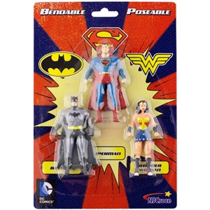 Mini Justice League 3-pack of Bendables