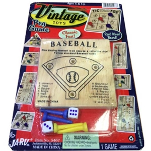 Assorted Vintage Peg Games