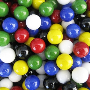 Assorted - Game Marbles 5/8""