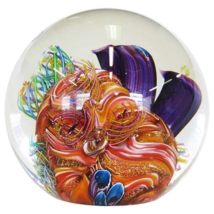"Glass Eye Studio Paperweight - ""Caribbean Reef Environmental Series"""