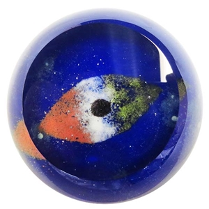 "Glass Eye Studio Paperweight - ""Asteroid Juno"""