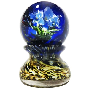 "David Salazar - ""Van Gogh Floral Marble with Base"""
