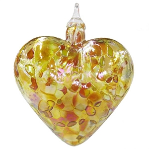 Gold Marbled Heart Ornament