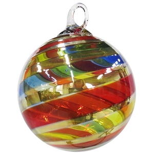 Rainbow Platinum Twist Designer Ornament