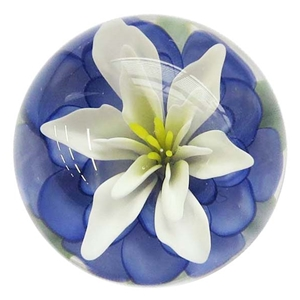 "Fred Linders - ""Blue and Flower Marble"""