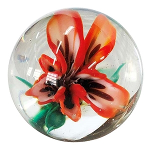 "Nicholas Schmidt - ""Exotic Red and White Flower Marble"""