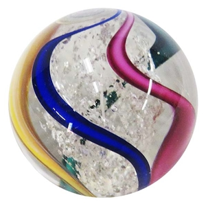 "Fritz Lauenstein - ""Multi Color Canes and Transparent Mica Core Marble"""