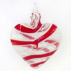 Red Spin Designer Heart Ornament