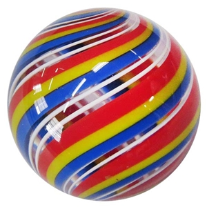 "Hot House Glass - ""Tri-Colored Banded Swirl"""