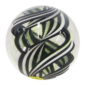 "Joshuah Justice - ""Black and White UV Spiral Marble"""