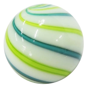 "Geoffrey Beetem - ""Teal, Lime, and White Swirl Marble"""