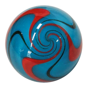 "Fritz Lauenstein - ""Blue and Red Twistback Swirl"""