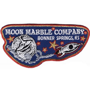 "Moon Marble Co. Embroidered Patch - Rocket 4"" x 2"""