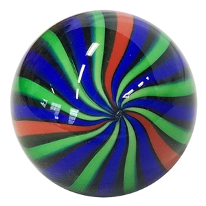 "Fritz Lauenstein - ""Blue, Green, and Red Cane Marble"""