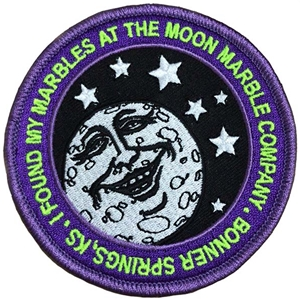 "Moon Marble Co. Embroidered Patch - Round 3.5"" diameter - purple"