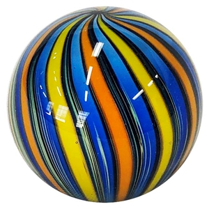 "Fritz Lauenstein - ""Blue, Orange, and Yellow Cane Marble"""