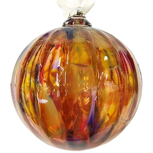 Amber Marbled Ornament