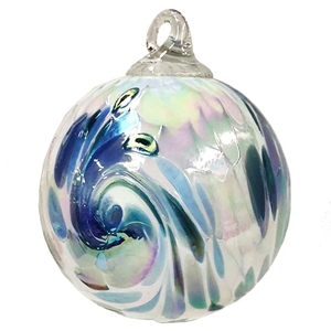 Blue Hydrangea Feather Classic Ornament