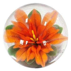 "Fred Linders - ""Orange Flower Marble"""