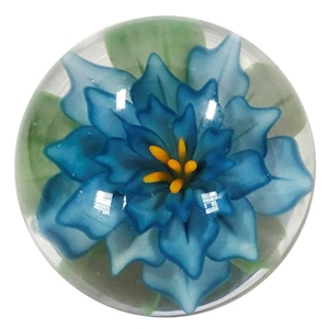 "Fred Linders - ""Teal Blue Flower Marble"""