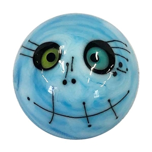 "Chris Haussler - ""Blue Skull Face Marble"""
