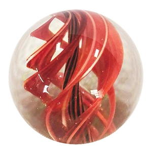 "Joshuah Justice - ""Red UV Spiral Marble"""