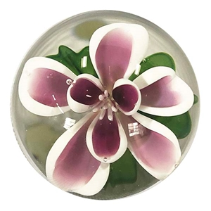 "Bernadette Gerbe - ""Purple and White Flower Marble"""