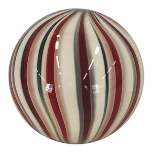 "Fritz Lauenstein - ""Red and White Cane Marble"""