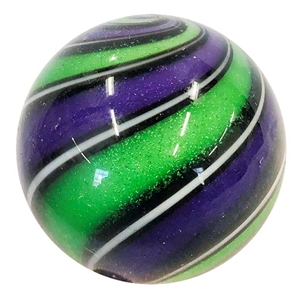 "Hot House Glass - ""Purple and Lime Green Swirl"""