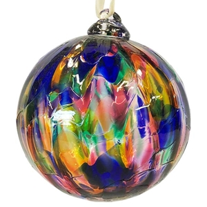 Multi-Color Marbled Ornament