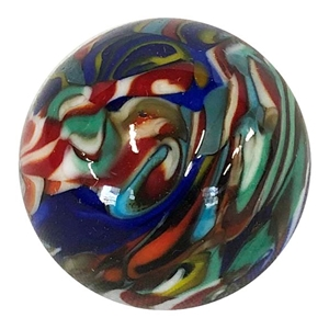 "*Bruce Breslow - ""End of Day Twisty Cane Marble #1"""
