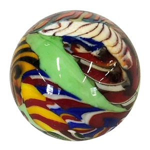 "*Bruce Breslow - ""End of Day Twisty Cane Marble #2"""