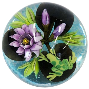 "Cathy Richardson - ""Frog on Lily Pads Marble"""