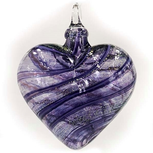Purple Jasmine Artisan Heart Ornament