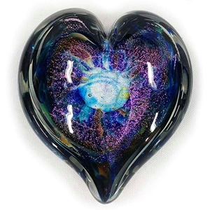 "Glass Eye Studio Hearts of Fire Paperweight - ""Anniversary"""