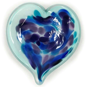 "Glass Eye Studio Affection Heart Dish - ""Violet Blue"""