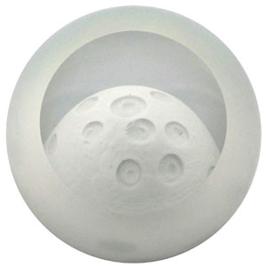 "Glass Eye Studio Paperweight - ""Moon"""
