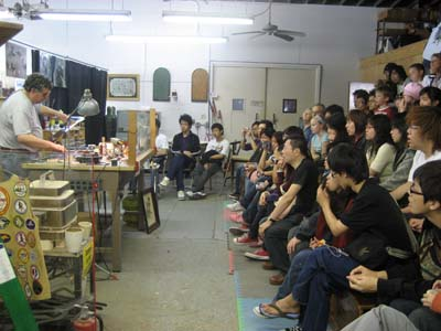 Hong Kong Exchange Students Watch a Marble Being Made