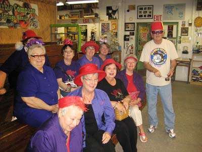 Red Hat Ladies with Artist Ernie Kober
