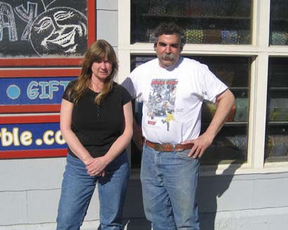 Owners Bruce and Lynda in Front of Store